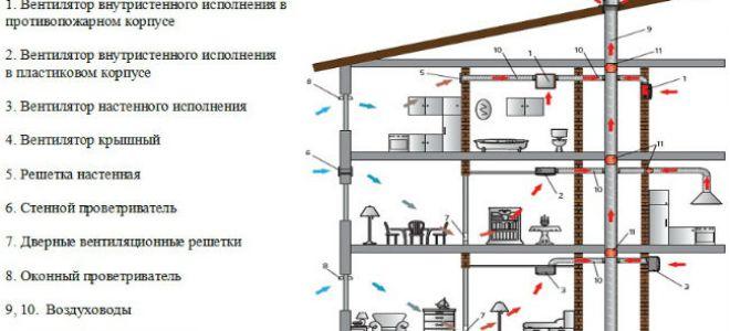 Необходимость устройства вентиляции в доме из бруса