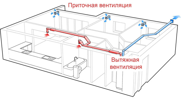 Профессионально составленная схема простой вентиляции