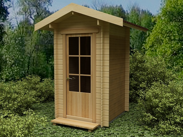 Традиционный дачный туалет с простой вентиляцией