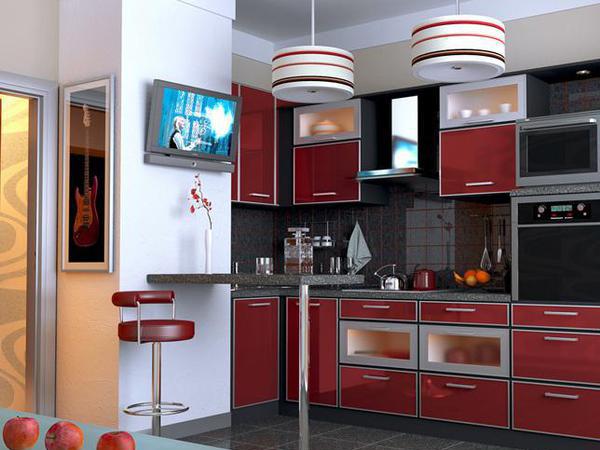 Венткороб интегрируется в кухонный гарнитур