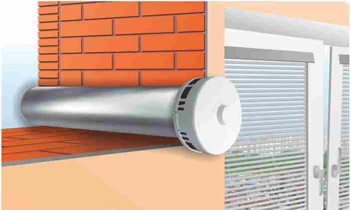 Приточный клапан может монтироваться в стене