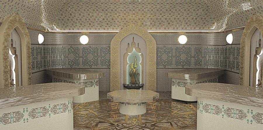 При правильно организованной вентиляции в помещениях турецкой бани всегда комфортный микроклимат
