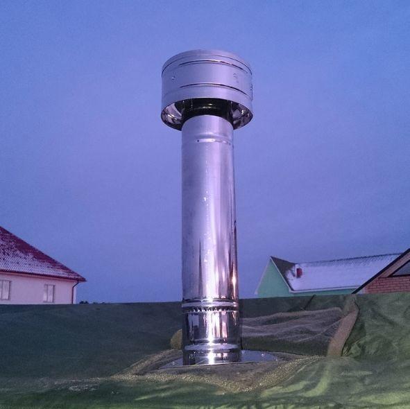 Грамотно устроенная вентиляция с дефлектором Цаги