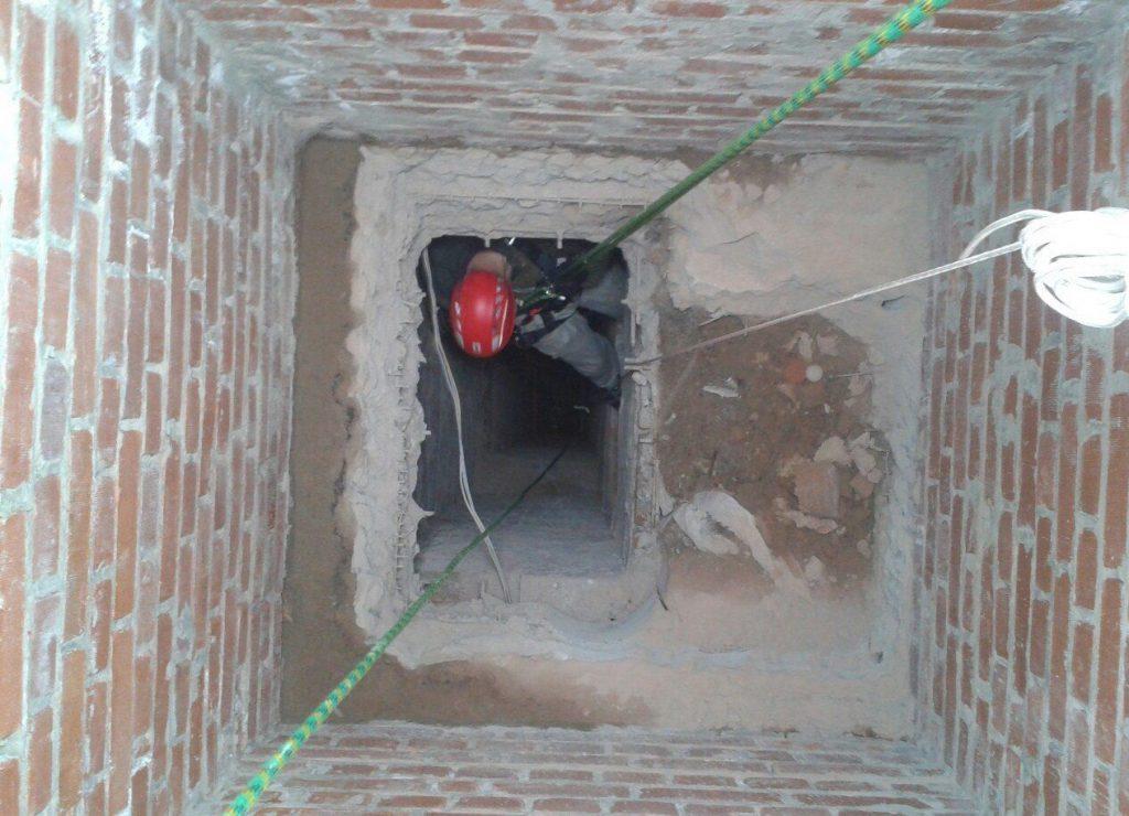 Общая шахта вентиляционного канала панельной многоэтажки