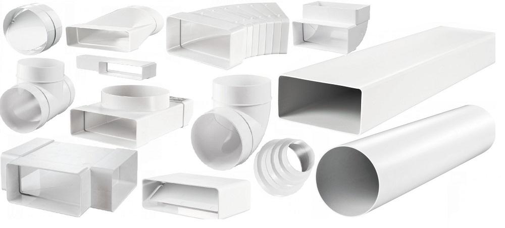 Элементы пластиковых венткоммуникаций