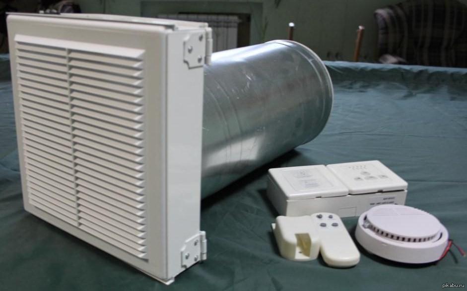 Комплектация компактной вентиляции с подогревом для квартиры