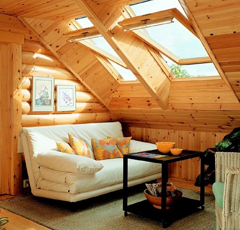 Вариант естественной вентиляции подкрышного пространства