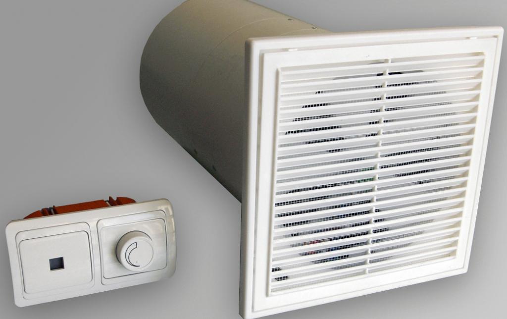 Вытяжной вентилятор с декоративной решеткой