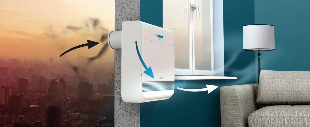 Подающие свежий воздух клапаны могут являться частью оконных конструкций