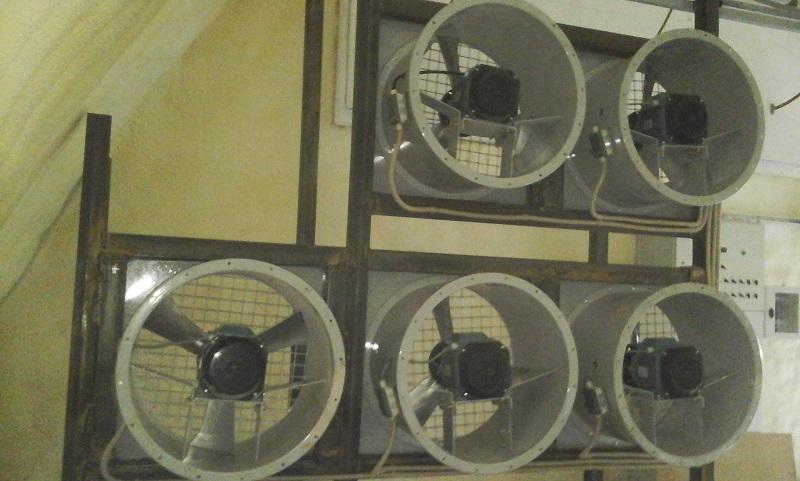 Принудительная вентиляция - это промышленные вентиляторы
