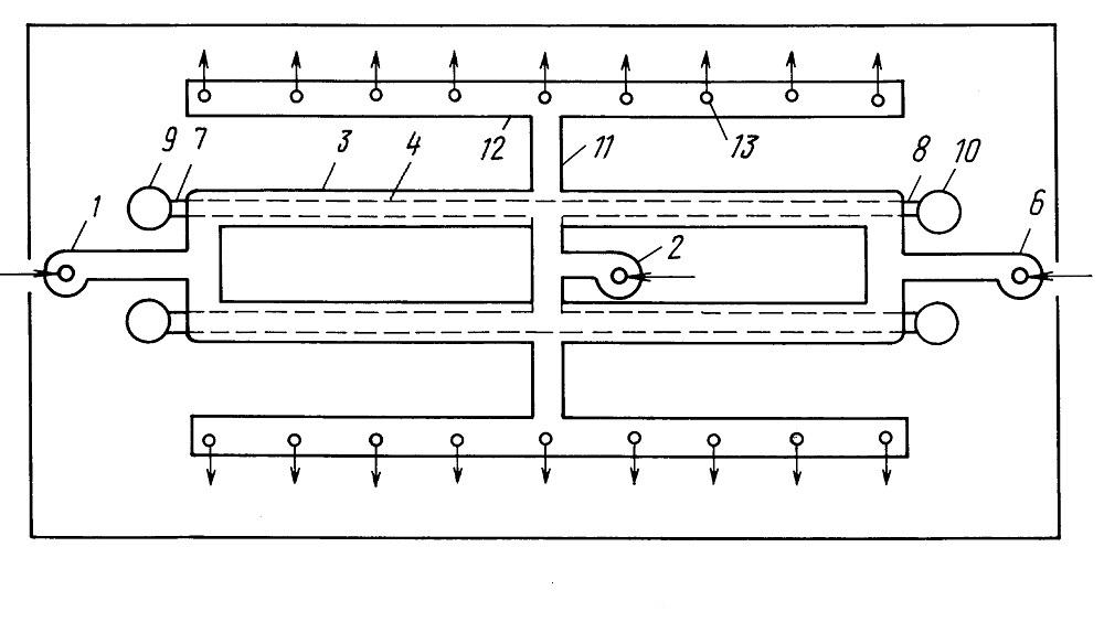 Рабочая схема устройства вентиляции в коровнике