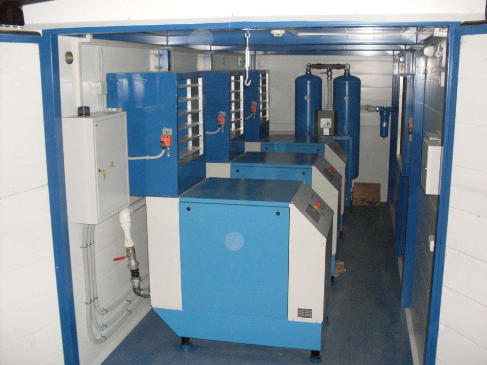 Вид и производительность вентиляции выбираются исходя из габаритов помещения компрессорной