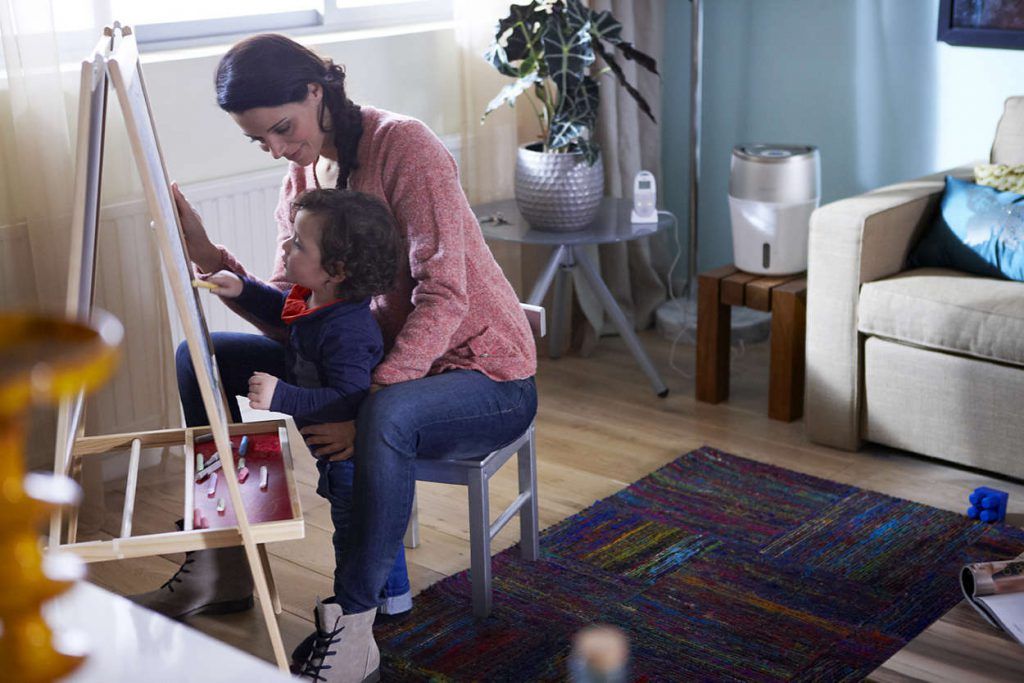 Для ребенка нормальная влажность является залогом здоровья
