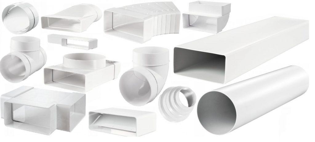 Ассортимент элементов воздуховода позволяет создать конструкцию любой геометрии