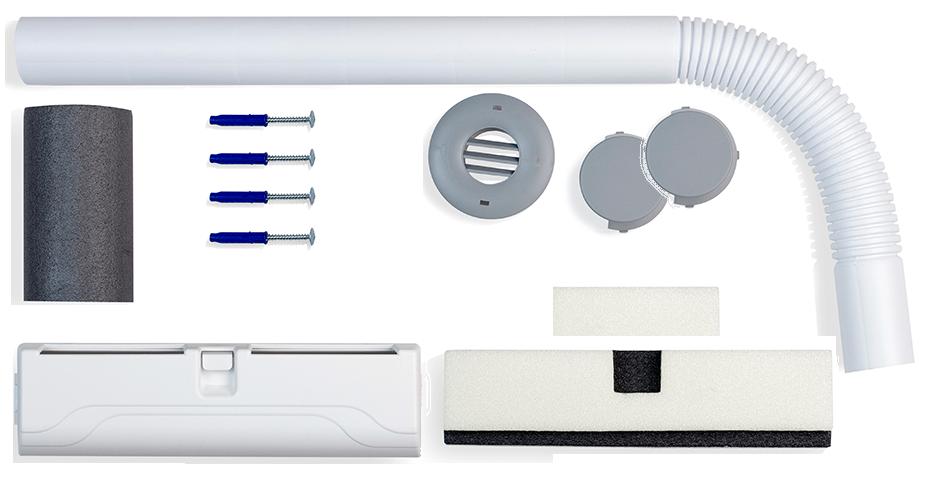 Самый простой набор для устройства вентиляции в обычной кухне