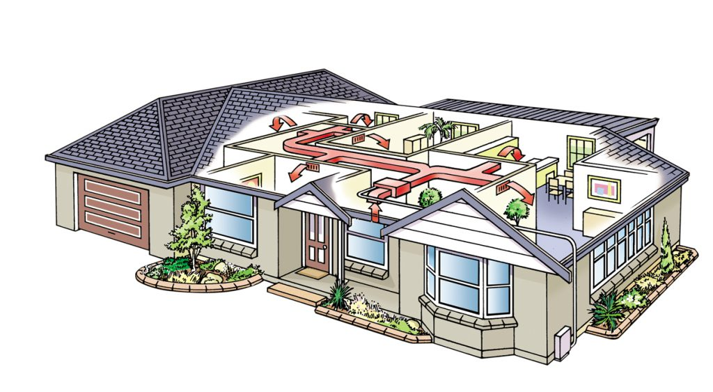 Вентиляция часто устраивается по комбинированной схеме