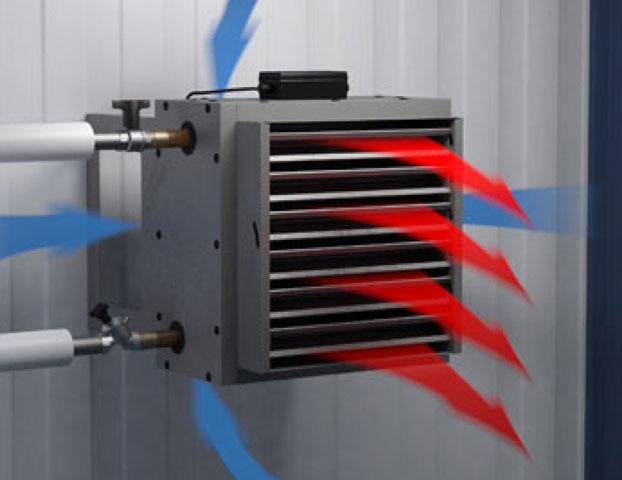 Прибор для воздушного отопления