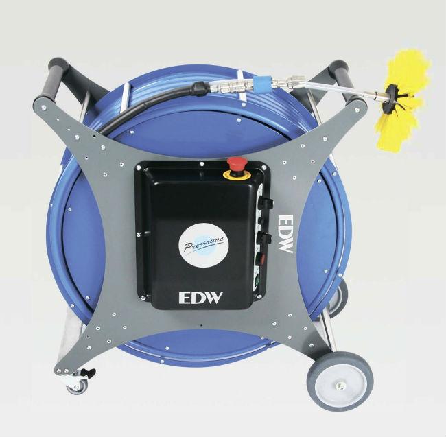 Щеточная машина для прочистки вентиляционных каналов