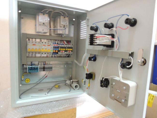 Щит управления приточной вентиляцией с электрическим калорифером