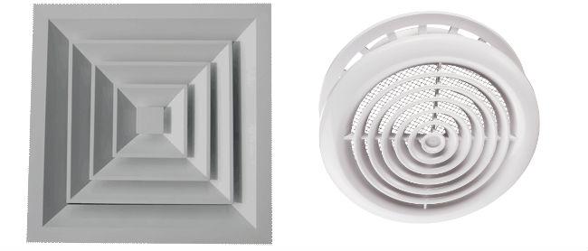 виды диффузоров для вентиляции