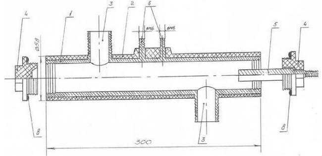 Чертеж конструкции электродного котла