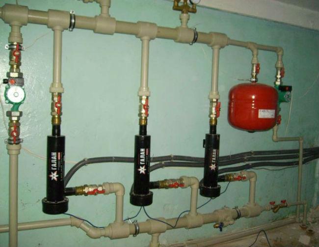 Работа котла Галан в системе отопления