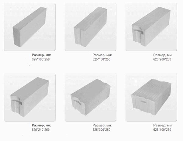Блоки разных видов