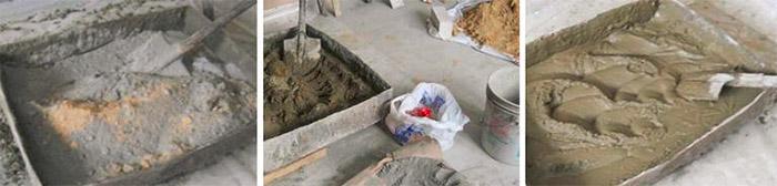 Замешивание цементно-песчаного состава