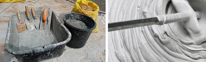 Замешивание цементных составов