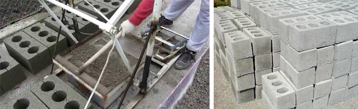 Как сделать блоки из шлакобетона