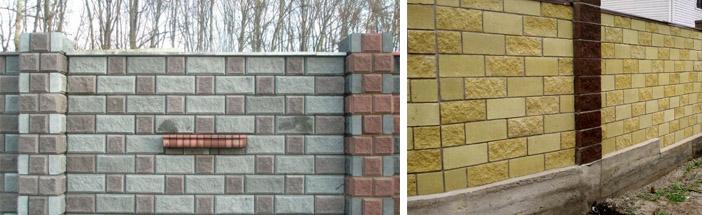 Ограды из декоративного камня