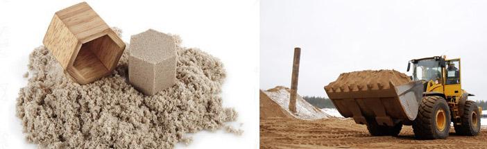 Применение песка