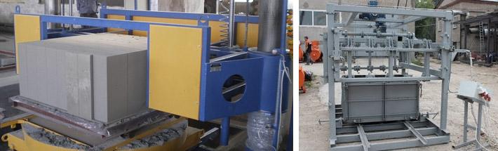 Производственные агрегаты для блоков