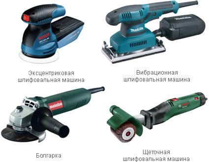 Разновидности инструментов
