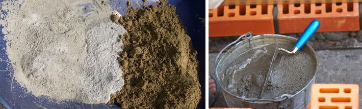Смеси на основе песка и цемента