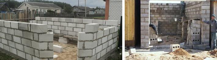 Строительство гаража из шлакобетона