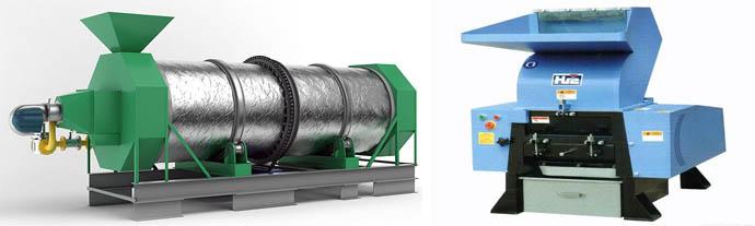 Сушильная установка и роторная дробилка
