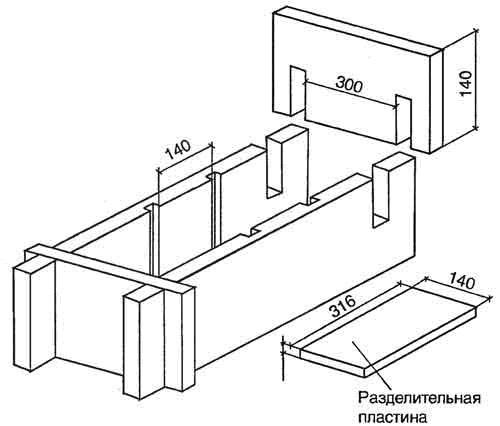 Форма на три элемента