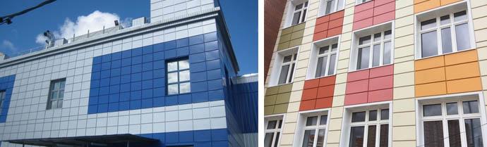 Фото облицовки фасадов