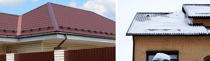 Что такое снегостопперы и способы их крепления на крыши