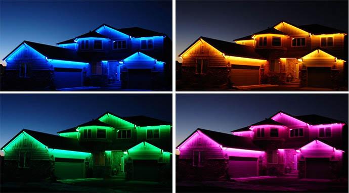 LED-подсветка на фасадах